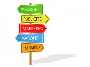 Panneaux MANAGEMENT PUBLICITE MARKETING MARQUE STRATEGIE